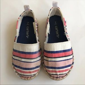 CARTERS ESPADRILLES TODDLER 7